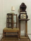 Group Including Sm. Wood Foot Stool, Stands,