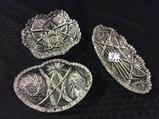 Lot of 3 Sm. Cut Glass Dishes