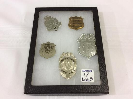 Lot of 5 Various Sm. Badges Including Special