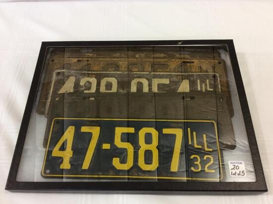 Lot of 5 Old License Plates Including