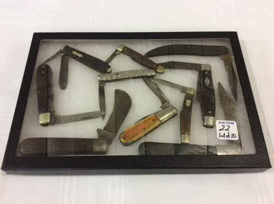 Lot of 10 Folding Pocket Knives Including Barlow,