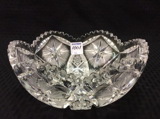 Beautiful Cut Glass Bowl Signed P&B