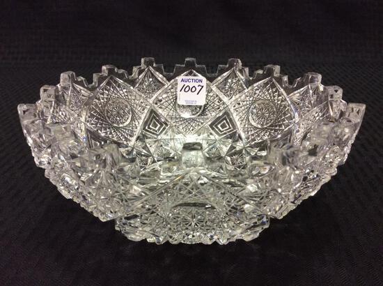 Beautiful Multi Facet Cut Glass Bowl