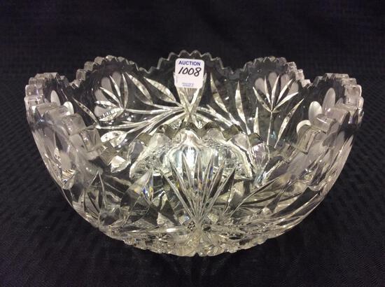 Beautiful Cut Glass Floral Bowl