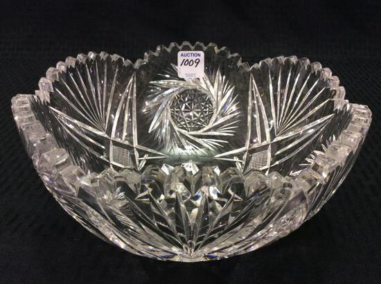 Beautiful Heavy Cut Glass Bowl