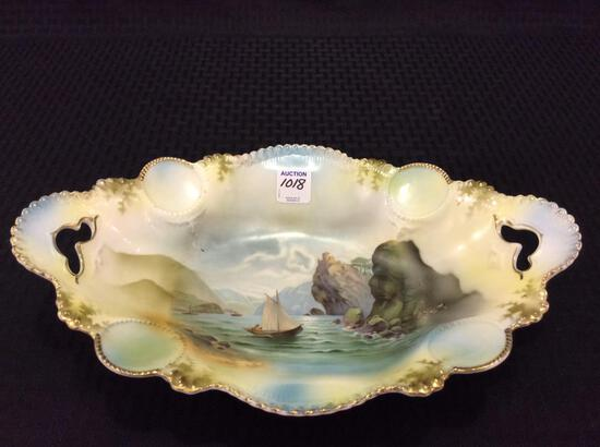RS Prussia Dbl Cut Out Handle Bowl w/