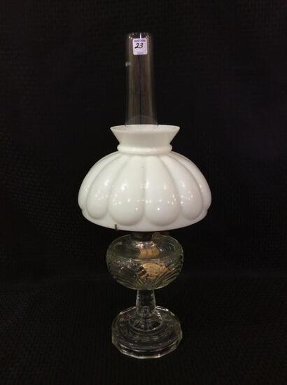 Aladdin Clear Glass Kerosene Lamp w/