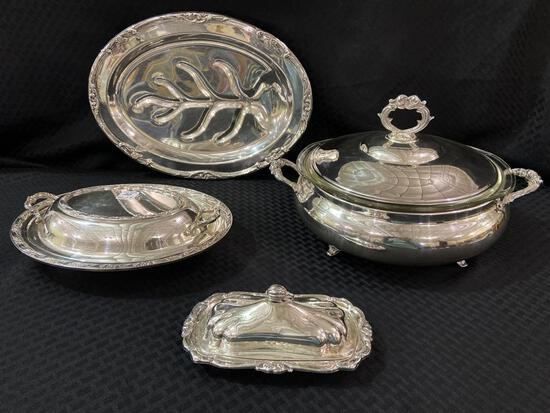 Group of Very Nice Lg. Silverplate Serving Pieces