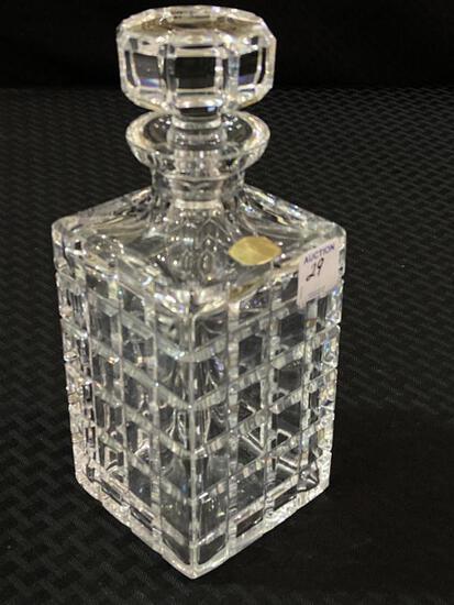 Atlantic Block Crystal Decanter w/ Stopper
