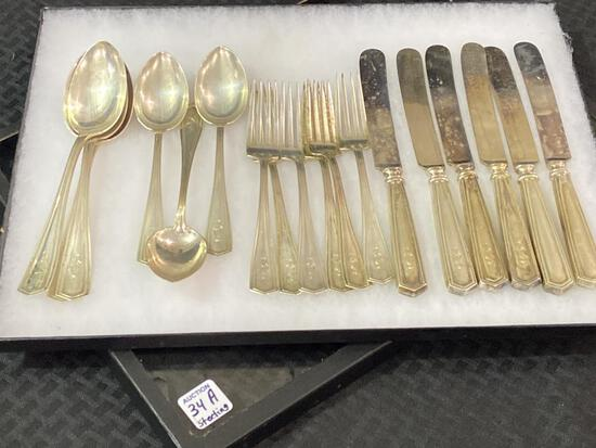 Matched Set of Sterling Silver Flatware-
