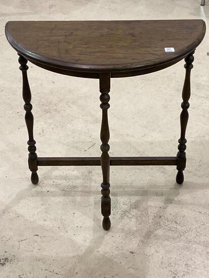 Sm. Wood Half Moon Design Table
