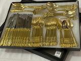 Set of Gold Plated Flatware-Service for 12
