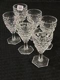 American Fostoria Glassware-Lot of 6 Sm. Pedestal