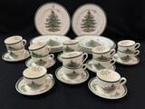 Set of Spode England Christmas Tree Dinnerware