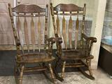 Lot of 2 Lg. Wood Rocking Chairs