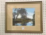 Lg. Framed Wallace Nutting Print-The Stream of