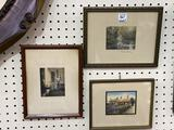 Lot of 3 Sm. Framed Wallace Nutting Prints