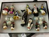 Group of Penguin & Snowflake Ornaments