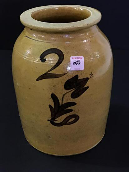 #2 Decorated Crock Jar-Whitewater, WI