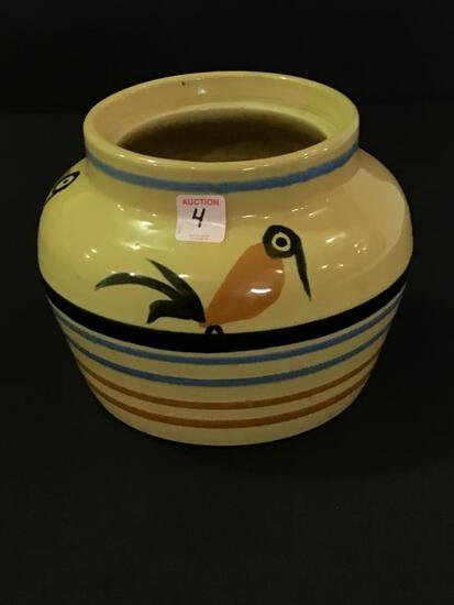 Buckeye Pottery Decorated Jar (6 1/2 Inches Tall)