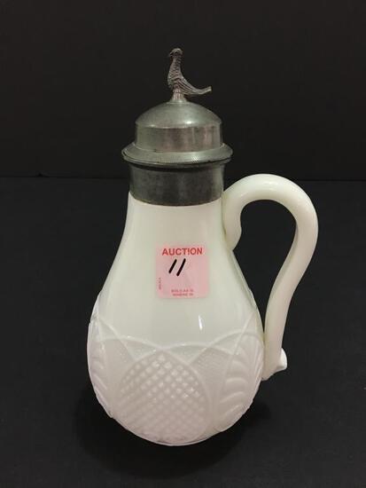 Vintage Milkglass Syrup