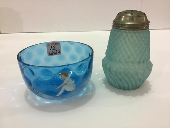 Lot of 2 Including Blue Victorian Sugar