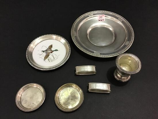Lot of 7 Sterling Silver Pieces Including Serving