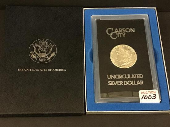 1883 UNC Carson City Morgan Silver Dollar