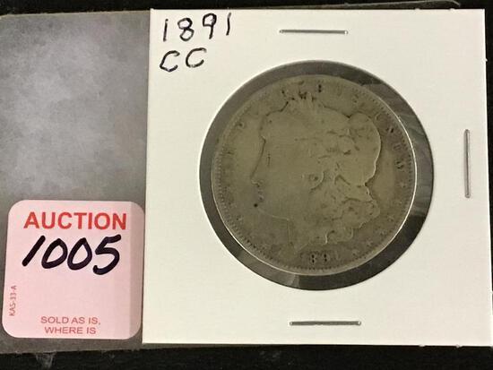 1891 Carson City Morgan Silver Dollar