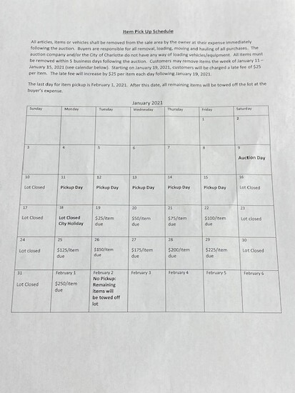 REMOVAL SCHEDULE