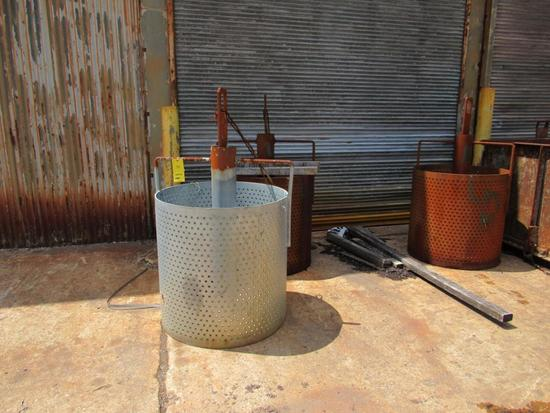 LOT: (5) 36 in. x 36 in. High Galvanizing Baskets (outside along east wall of Building #1)
