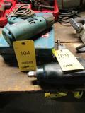 LOT: (1) Makita 1/2 in. Electric Impact Gun, (1) 3/4 in. Pneumatic Impact Gun