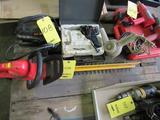LOT: Hedge Sweep Trimmer, JNC 300XL Jump Starter, Soldering Gun, (3) Assorted Heat Guns