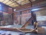 LOT: Large Galvanizing Basket Lift Fixture, Approx. 22 ft. Long x 8 ft. High, with Attached Chain &