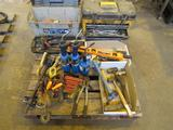 LOT: Assorted Tool Boxes & Tools on (1) Skid
