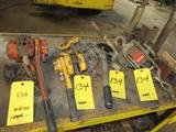 LOT: (2) Chain Come Alongs, (2) Cable Ratchet Pullers