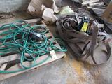 LOT: (2) Assorted Sump Pumps & Hose on (2) Skids