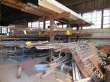 LOT: (1) Custom Cantilever Rack with Assorted Angle, Channel, Flat Stock, Pipe, etc.