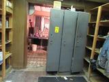 LOT: Contents of (4) Rooms including Assorted Office Supplies, Assorted Lockers, (2) 2-Door Steel