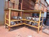 LOT: Propane Storage Rack with (12) Tanks