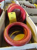 LOT: (8) New Round Chain Links, 1-1/8 in. x 6 in., W.L.L. 10,400 lbs.