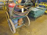 Acetylene Torch Set, with Cart, Hose, Torch, Gauges