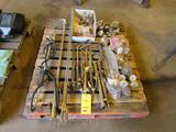 LOT: Assorted Torches, Regulators, Gauges on (1) Skid