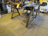 LOT: (3) Assorted Steel Welding Tables (two with vises)