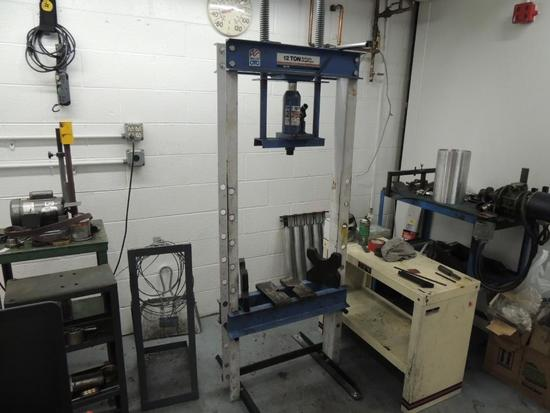 OTC Hydraulic Shop Press , 12 Ton Cap.