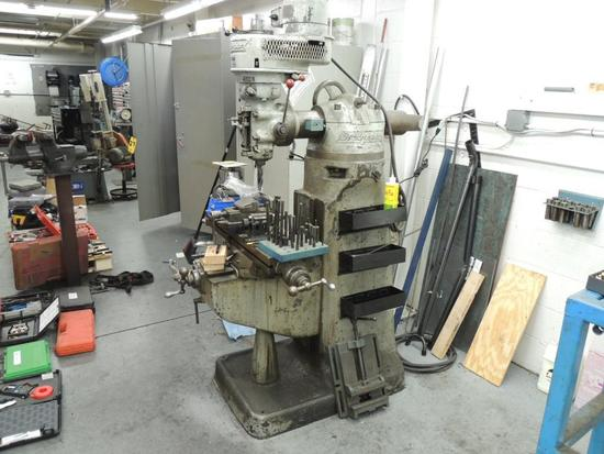 Bridgeport Milling Machine Model Bh 13423, and Misc. Tooling