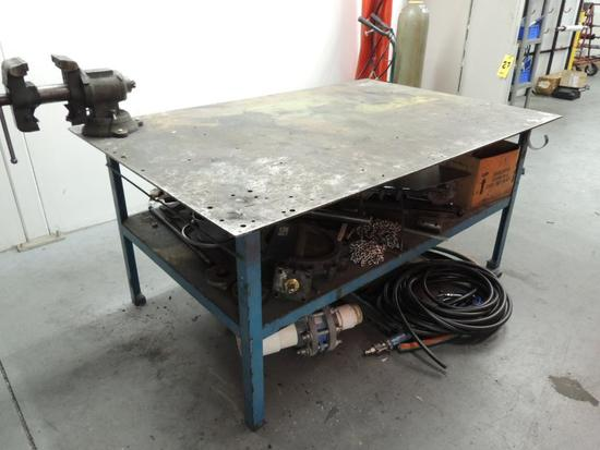 Welding Table 4 ft. x 6 ft. W/ 5 in. Vise