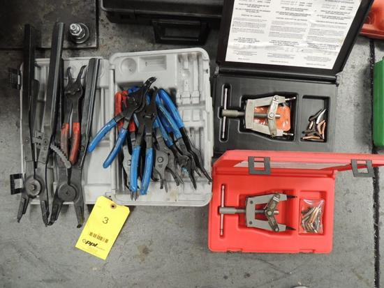 LOT: Internal/External Retaining Ring Tools, Snap Ring Piers