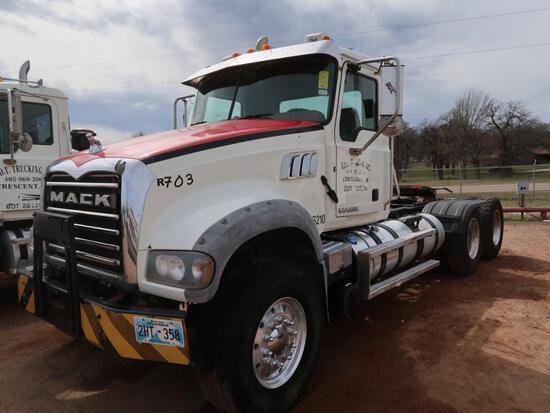 2011 Mack Model GU713 Tandem Axle Tractor, 12.7L LG Diesel, Allison Auto Trans, VIN: