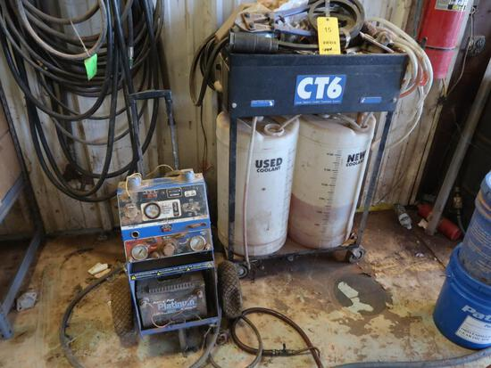LOT: Blue Point Mobile Universal Trailer Tester Model YA7900AP, CT6 Large Capacity Coolant
